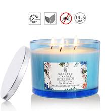 8PCS Soy Wax Citronella Oil Mosquito Repellent Scented Candle Citronella Candles festivals birthdays party diy Scented candle high qualit 1000g pack 100% pure soy wax for candle making diy candle material flake candle wax smokeless waxed diy candles