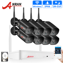 ANRAN Wireless Security Camera System NVR Kit 1080P HD Outdoor IP Camera Waterproof Wifi Surveillance CCTV Camera System APP