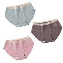 3 Pcs/Set Sexy Seamless Cotton Underwear Women Panty Soft Panties For Female Skin-friendly Panty Comfort Lingerie Women's Briefs