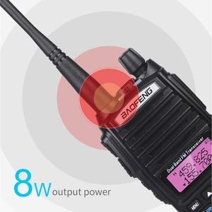 Image 2 - גבוהה 8W Baofeng UV 82 ווקי טוקי UV 82 ציד נייד CB רדיו חם 10km להקה כפולה VHF UHF משדר UV82 שתי דרך רדיו