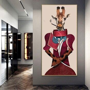 """fashion giraffe"" εκτύπωση πίνακα σε καμβά"