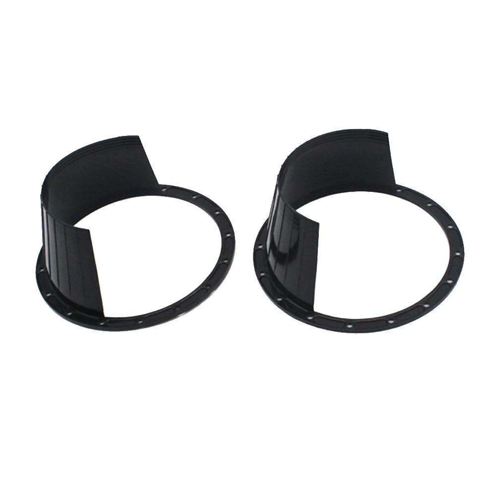 1 par de 6.5 Polegada anel de alto-falante de áudio, porta de carro à prova dágua, protetor preto