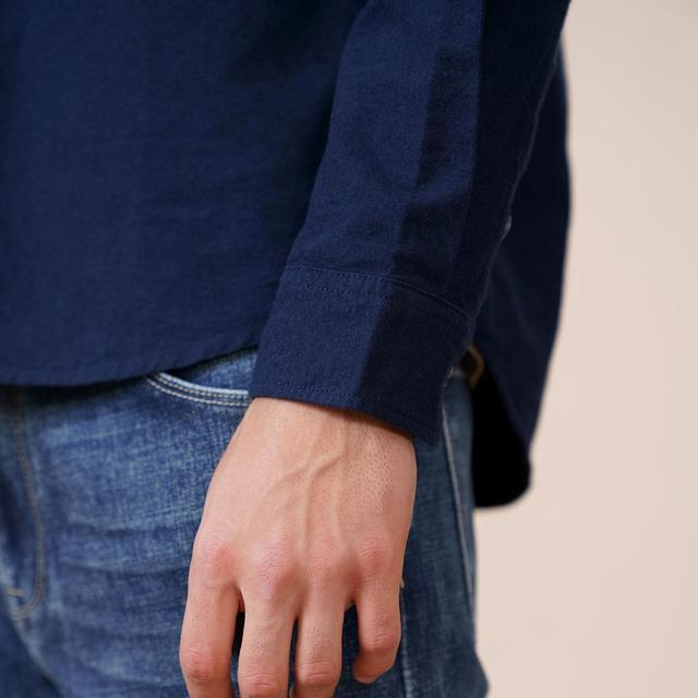 Spring Thick Shirts in navy blue