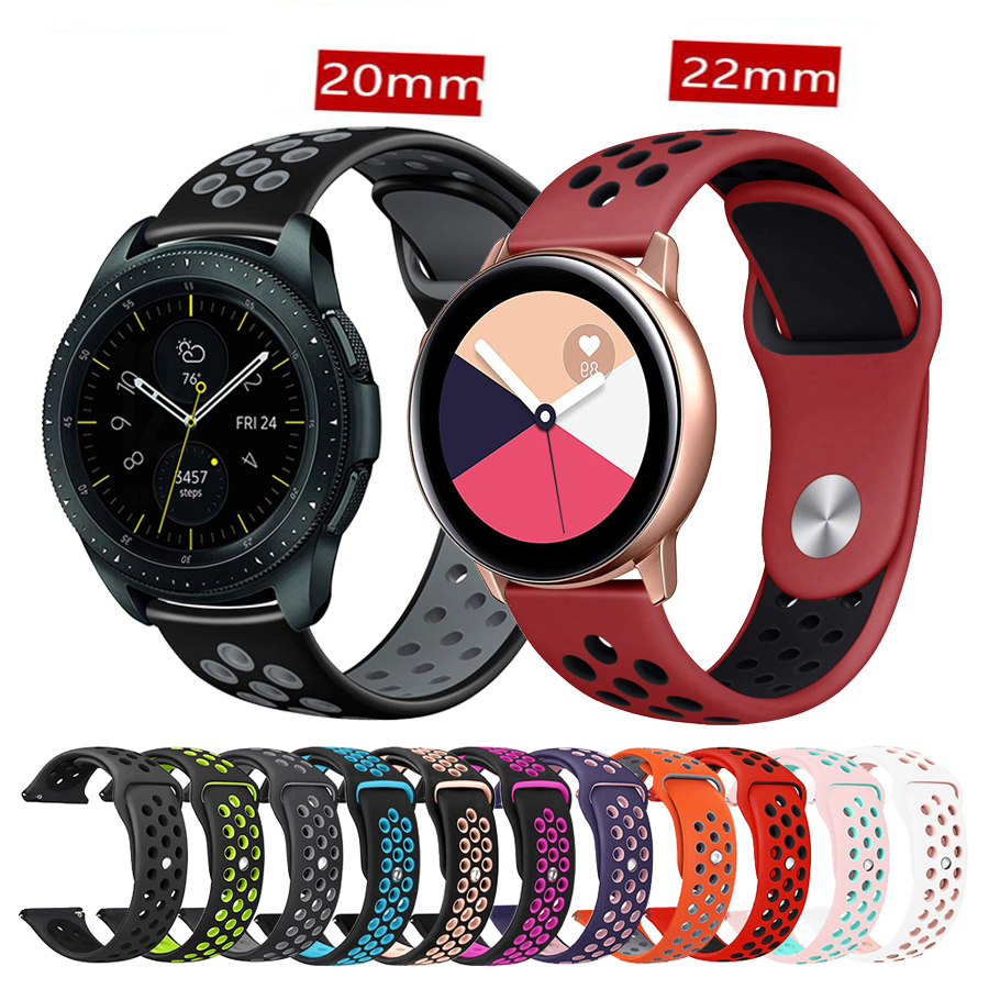 Strap For Samsung Gear S3 S2 Sport Frontier Classic Galaxy Watch Active 42mm 46 Band Huami Amazfit Gtr Bip 22mm 20mm Huawei GT 2