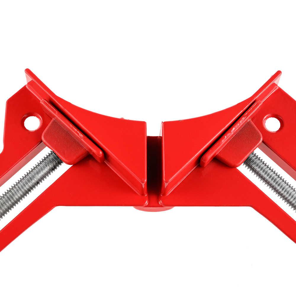 Vastar 90 Derajat Sudut Siku Mengapit Aluminium Paduan Cepat Tetap Adjustable 80 Mm Klem Sudut untuk Ikan Tangki Kaca Kayu bingkai