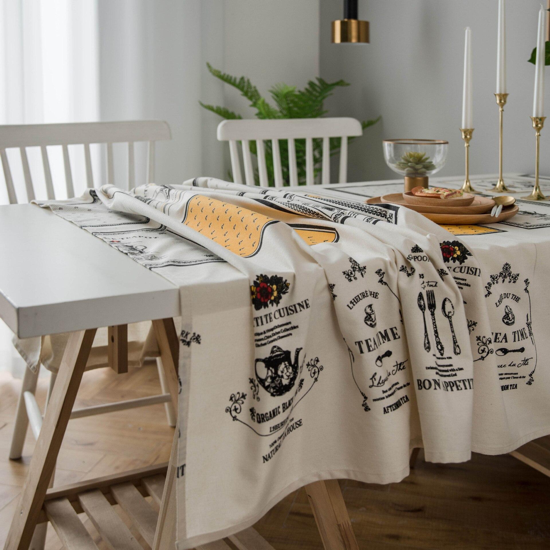 Cotton tablecloth table cloth mantel mesa rectangular table cover mantel obrus wedding coffee table mahjong table Kitchen()