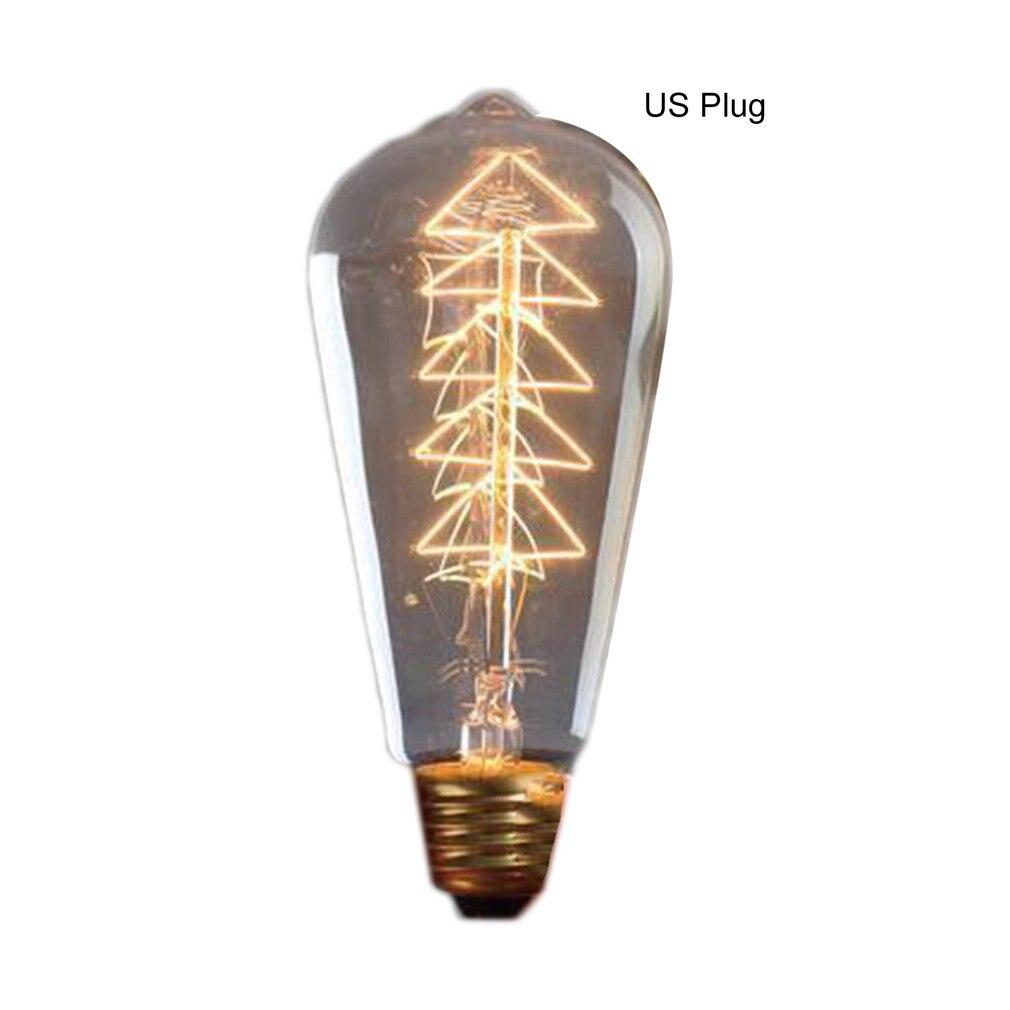 ST64 Tree Vintage Retro Edison Bulbs Spiral Light Handmade Glass Industrial Style Tungsten Bulb Pendant Lamps Lighting