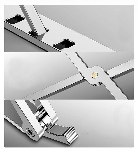 X Style Adjustable Foldable  Aluminum Laptop Stand Desktop Notebook Holder Desk Laptop Stand For 7-15 inch Macbook Pro Air 1