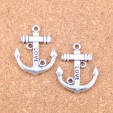 6pcs Charms anchor 30x25mm Antique Pendants,Vintage Tibetan Silver Jewelry,DIY for bracelet necklace