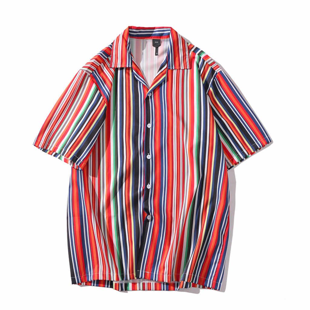 남성 여름 셔츠 캐주얼 반소매 비치 탑스 루즈 캐주얼 블라우스 한국어 легкое белое платье camisas sociais masculinas