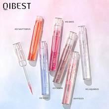 Прозрачный блеск для губ QIBEST, увеличивающий губы, увеличивающий блеск, блестящий увлажняющий тинт для губ, питательный зеркальный блеск для...