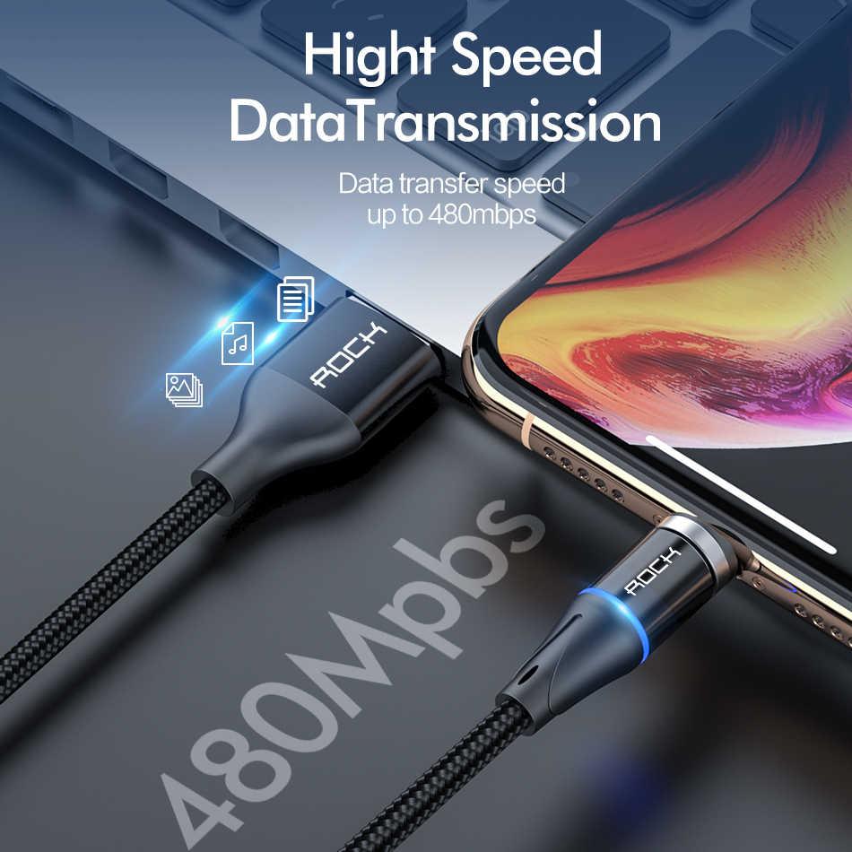 ROCK 2M 5A Магнитный кабель Micro usb type C для iPhone 7 XS samsung S8 Быстрая зарядка магнитные кабели для мобильных телефонов