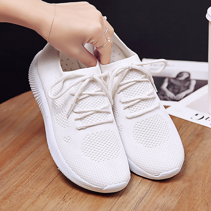 comfortable white sneakers