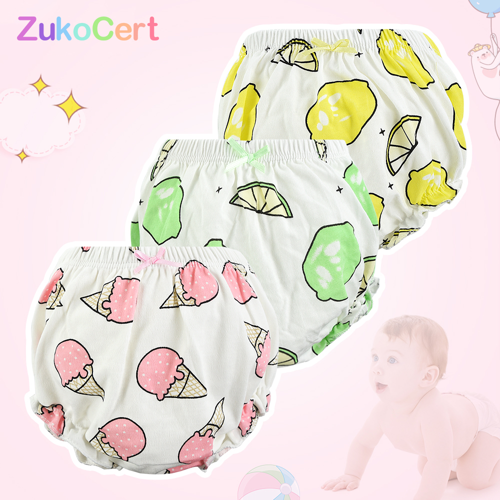 Babies Girls Baby Disper Pants Cotton Children Panty Baby Girl Panties Underpants Newborn For Boys Toddler Male Underwear 0-3T