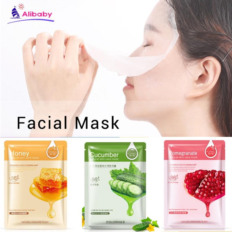 Natural Plant Facial Mask Face Skin Care Moisturizer Face Masks Whitening Oil Control Wrapped Mask Aloe Vera Honey Facial Masks