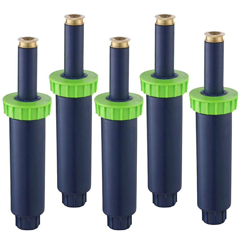 Heißer 10 cm Pop-Up Sprinkler für Pop-Up Bewässerung Sprinkler für Rasenflächen, Terrassen, Gärten, blume Betten-5 Packs (4x 360-Grad Spr