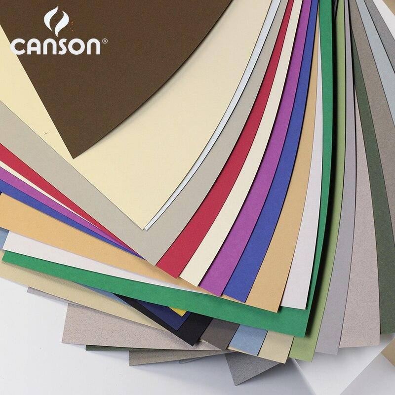 France Canson Soft Pastel Paper 4K Mi-Teintes 12Pcs Professional Oil Pastels Painting Paper Chalk Crayon Sketch Color Pencils