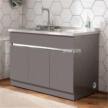 G110/G120 умывальник комбинированный шкаф с умывальником маленький семейный тип Прачечная бассейн Балкон Ванная комната шкаф из нержавеющей стали