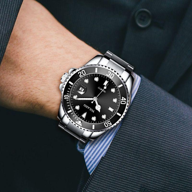 New Fashion Watch Men Luxury Rolexable Watch Top Brand Mens Casual Stainless Steel Waterproof Date Clock Male Reloj Hombre Xfcs