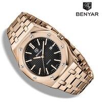 2020 New men's watches BENYAR quartz luxury watch men top luxury brand wrist watch men steel waterproof clock Relogio Masculino