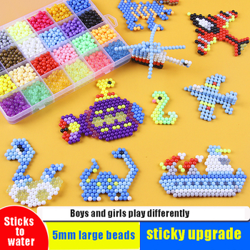 24Colors 3000Pcs Water Spray Beads DIY Puzzles Toy Crafts for Kids Polymer Sprinkles Magic Educational Toys Bead Kit