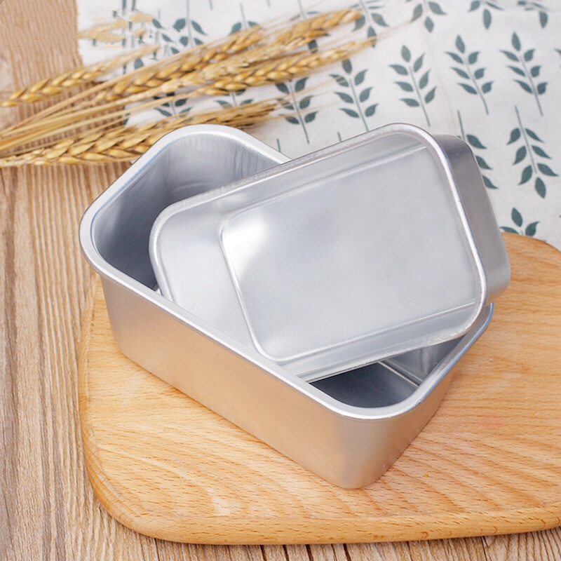 Bread Mold Aluminum Rectangle Bakeware Loaf Pan Snow Toast Cheese Box Roast Brownie Cake Mold Baking Pan Pastry Tools