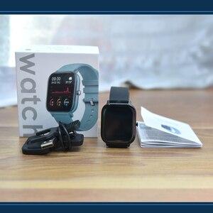 Image 5 - P8 akıllı İzle erkekler kadınlar 1.4 inç tam dokunmatik spor Tracker spor nabız IP67 su geçirmez Xiaomi Amazfit GTS