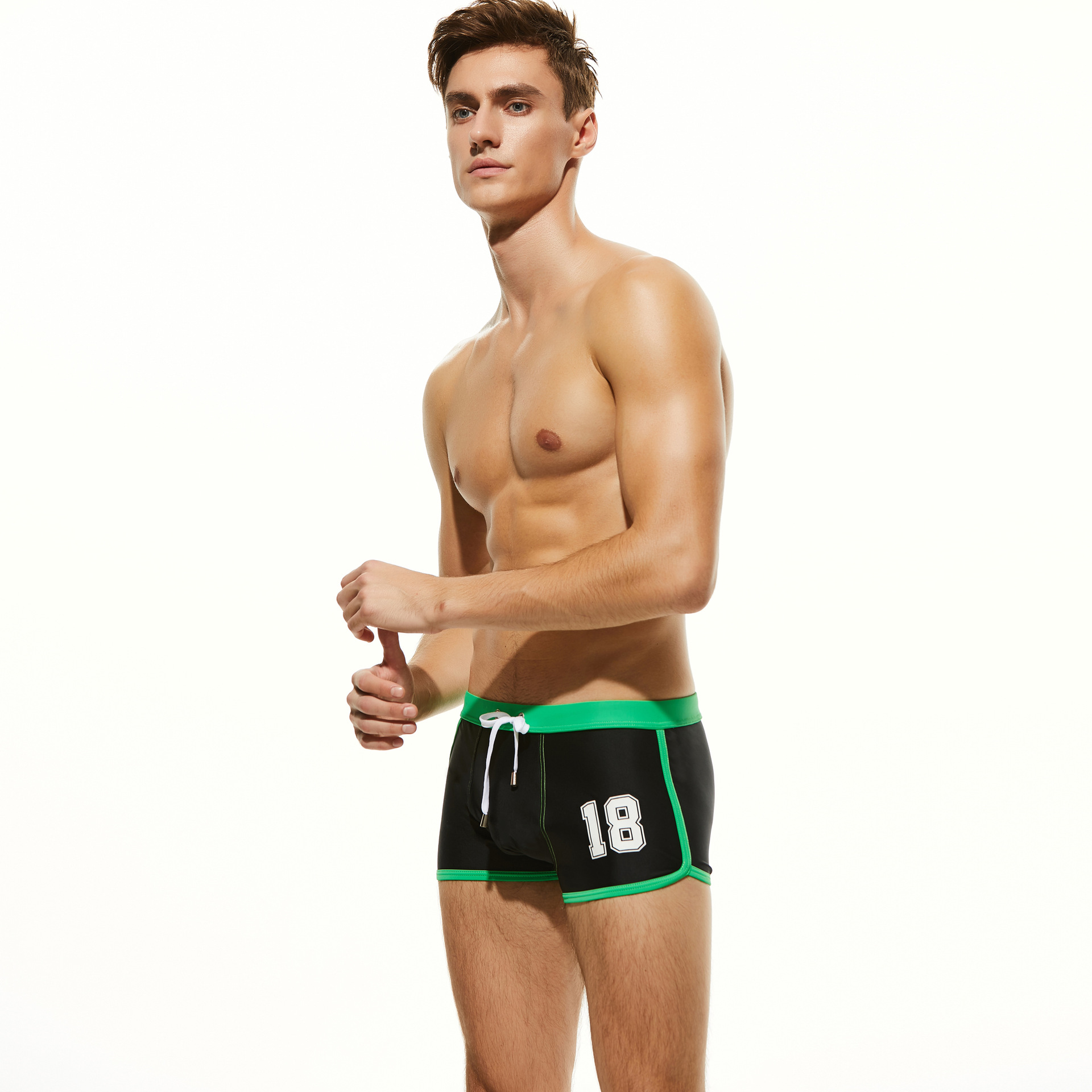 2018 Summer Day Hot Sales Men-Style Mixed Colors AussieBum Young MEN'S No. 18 Hot Springs Swimming Trunks Fashion