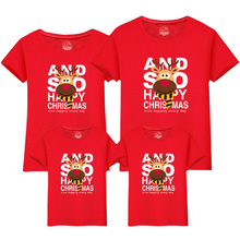 2019 weihnachten Familie Passenden Outfits Mutter Und Tochter Kleidung Mama und Mich Kleidung Weihnachten Hirsch Baumwolle T Shirt Nette Tops