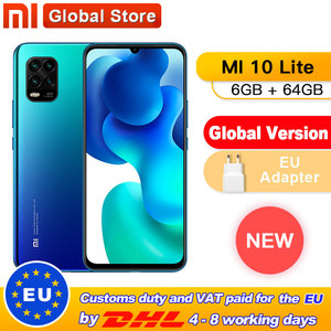 In Stock Global Version Xiaomi Mi 10 Lite 5G 6GB 64GB Smartphone Octa Core Snapdragon 765G 48MP AI Quad Cameras 6.57