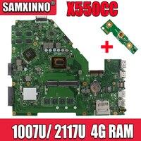 X550CC Motherboard für For Asus X550CC X550CL Notebook Motherboard Y581C 1007u / 2117u 4GB RAM Original Motherboard REV 2 0 PM tests
