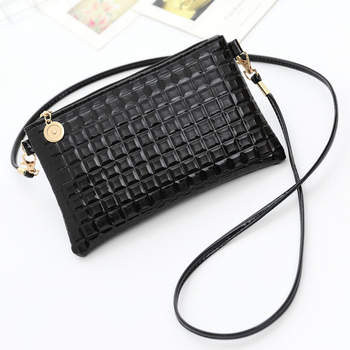 Lady Fashion Crocodile Patter Leather Bag Hand Woven Small Waist Bag Autumn Winter Waist Packs 2pcs