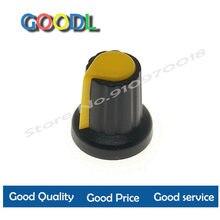 20 pçs wh148 botão de plástico amarelo ag2 15x17mm tipo potência de metro