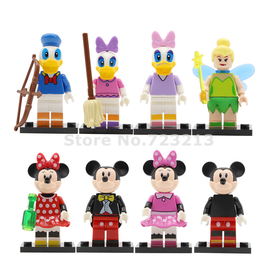 Single Sale Cartoon Figure Daisy Duck Minnie Fairy Building Blocks Sets Models Bricks Toys Legoing For Children