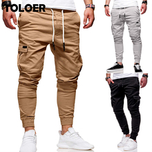 Men Jogger Pants New Fashion Sweatpants Men Fitness Bodybuilding Gyms Pants Male Runners Clothing Autumn Casual Harem Trousers cheap TOLOER Pencil Pants CN(Origin) Pleated Polyester Cotton Pockets Regular MY011 Jogger Pants Midweight Broadcloth Full Length