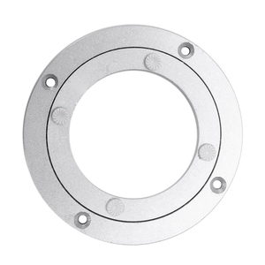 Aluminium Alloy Rotating Bearing Turntable Round Dining Table Smooth Swivel Plate (140mm)