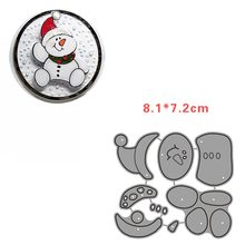 snowman snowflake cutting dies christmas craft frame metal 2020 New Year Decoration Accessories new