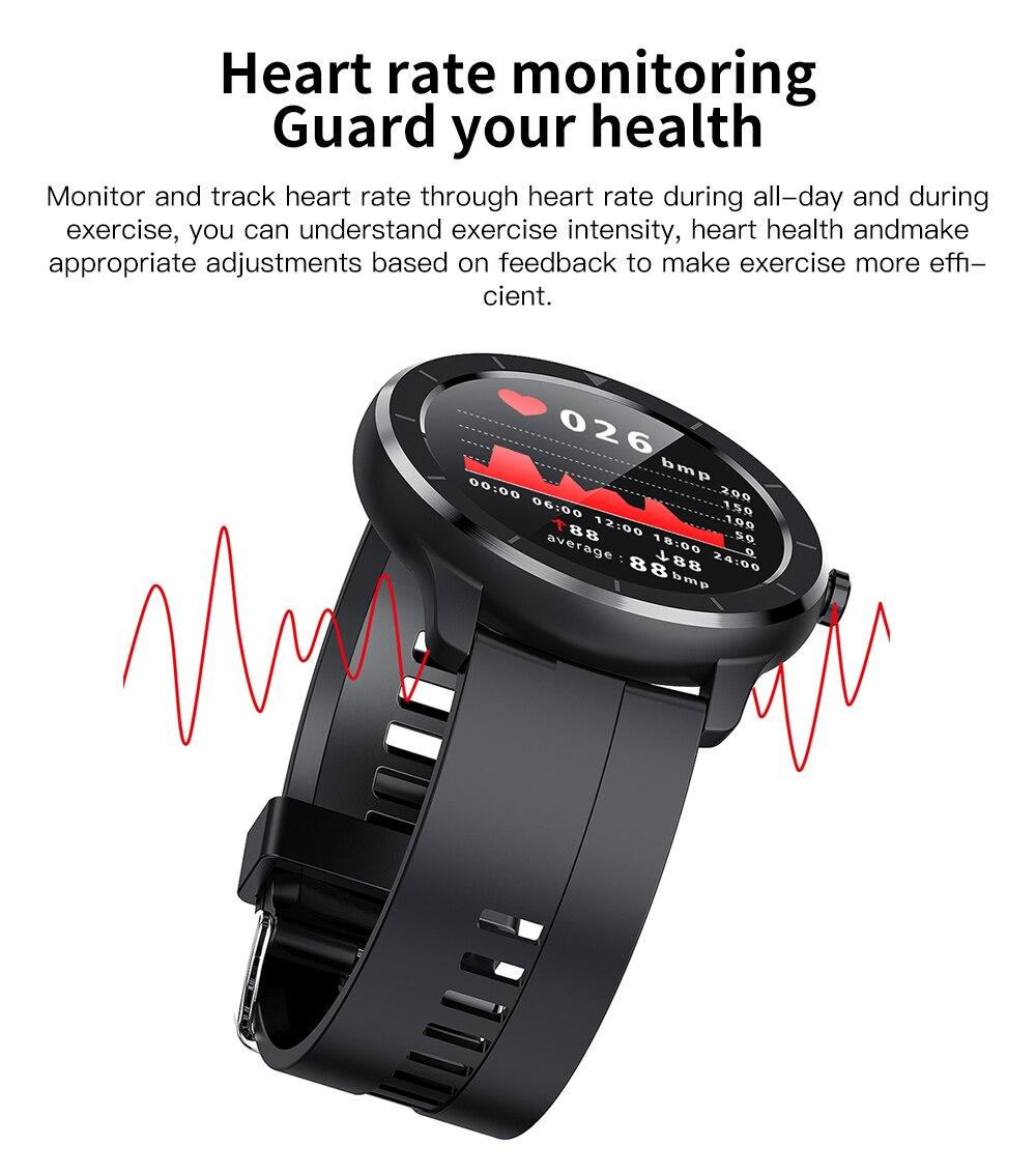 dip68 água 2020 smartwatch para android ios fitness relógios coração