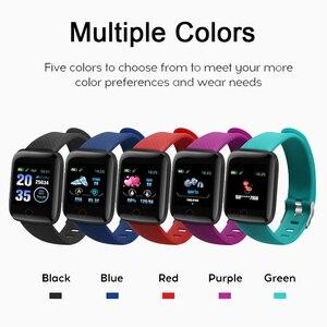 Image 5 - Rovtop Digitale Horloge Smart Android Polsband Sport Fitness Bloeddruk Hartslag Call Bericht Herinnering Stappenteller 116 Plus