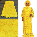 Anna gelb african schnur spitze mesh stoff 2020 hohe qualität bestickt nigerian guipure schnürsenkel wasser löslich stoffe 5 yards/stücke