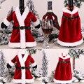 Рождественские украшения, наборы бутылочек для свитера, одежда, бутылочка, наряд, чехол для бутылки на новый год, Рождество, Рождество # W3