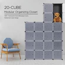Boucle de garde-robe Simple 20 Cube, DIY, modulaire, fermement connecté, étagère de rangement, connecteurs de boucle d'armoire, meubles de chambre à coucher HWC
