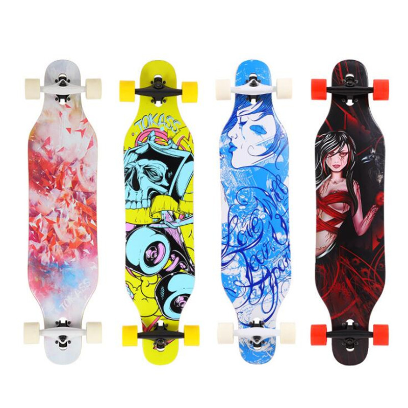 Skate Longboard Dancing Board 104CM Freestyle Long Board For Adults Men Women Kids Skateboard Dance Longboard