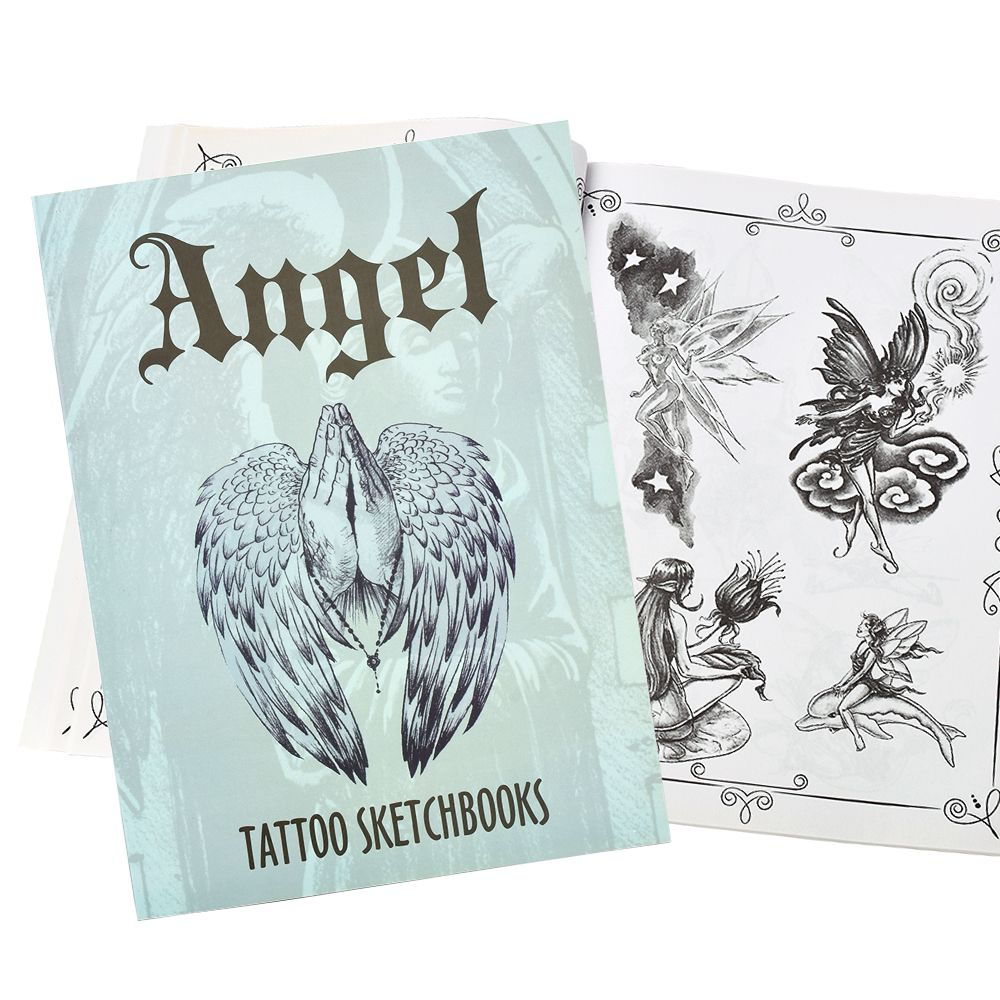 Tattoo Sketch Books Different Kinds Of Angel Wings Flower Design For Tattoo Body Art A4 Size 112 Pages
