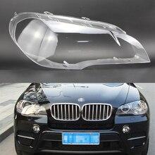 Lente de faro delantero de coche para BMW X5, E70, 2008, 2009, 2010, 2011, 2012, 2013