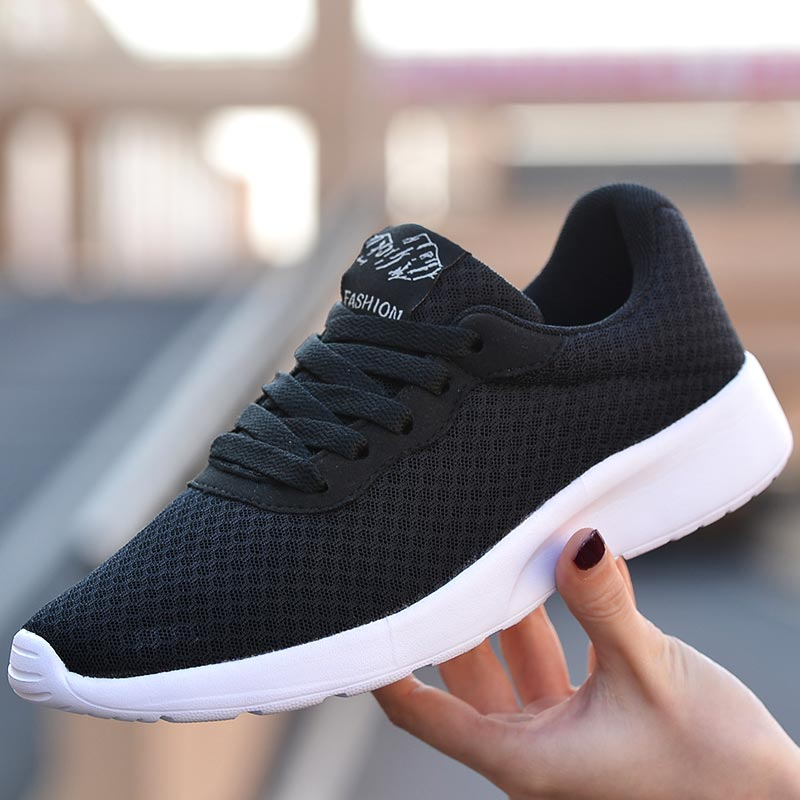 Breathable Lightweight Female Shoes Running Tennis Shoes Sport Woman Shoes Sports Sneakers Womens Runners Summer Black Gym E-412
