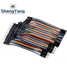 ShengYang Dupont Line 120 шт. 10 см мужской+ Женский Мужской и Женский Соединительный провод Dupont кабель для arduino