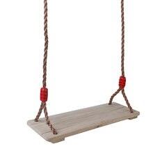 Прочное деревянное подвесное кресло качели с регулируемой веревкой