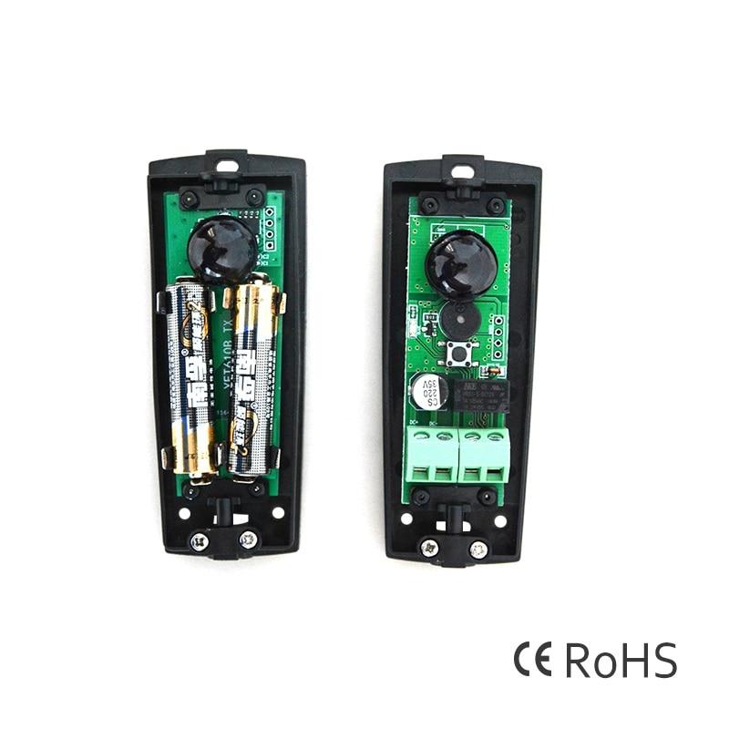 12VDC 24VDC 10m Battery powered safety beam Infrared Sensor Photo Eye Photocells infrared photocells door gate opener motor