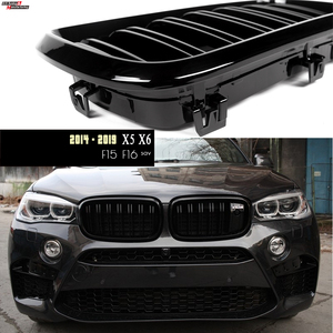Image 1 - 2 Slat ABS Gloss Black Racking Grill Kidney Grill for BMW F15 X5 (2014   2018) F16 X6 (2015   2019)